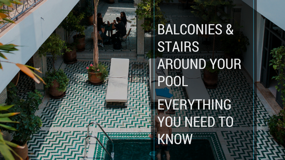 Balconies and Stairs Around the Pool